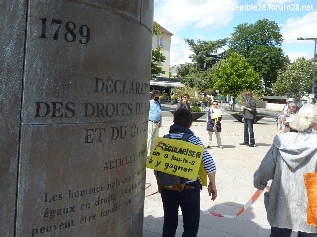 Chartres 13-06-2020 Chaîne AERéSP Régularisation des Sans-Papiers 5