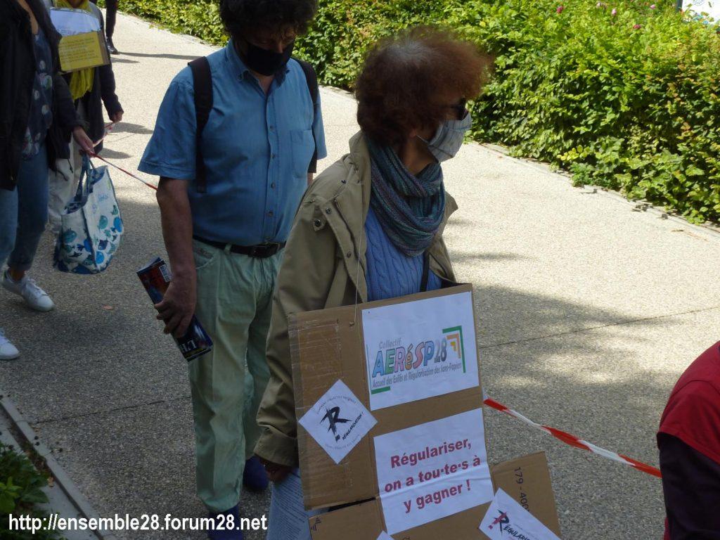 Chartres 13-06-2020 Chaîne AERéSP Régularisation des Sans-Papiers 7