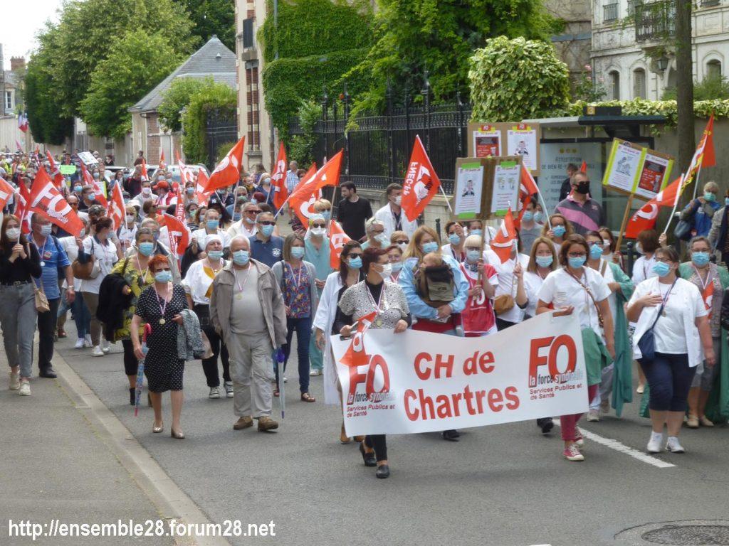 Chartres 16-06-2020 Manifestation Soignants Santé 13