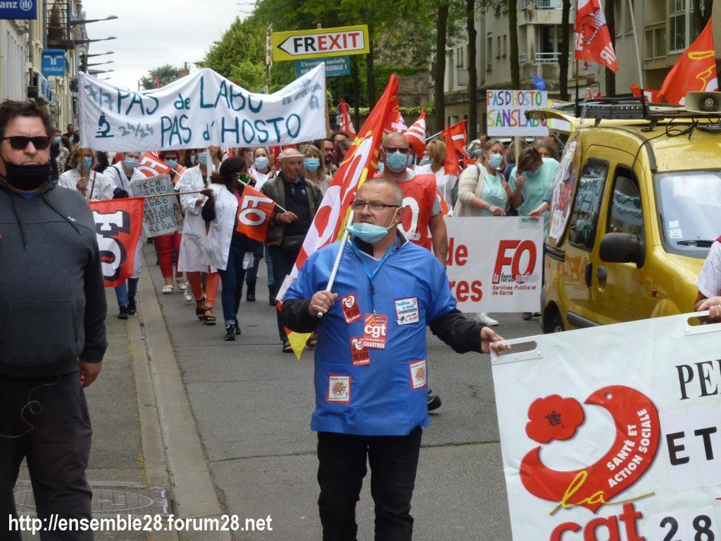 Chartres 30-06-2020 Manifestation Soignants Santé 02
