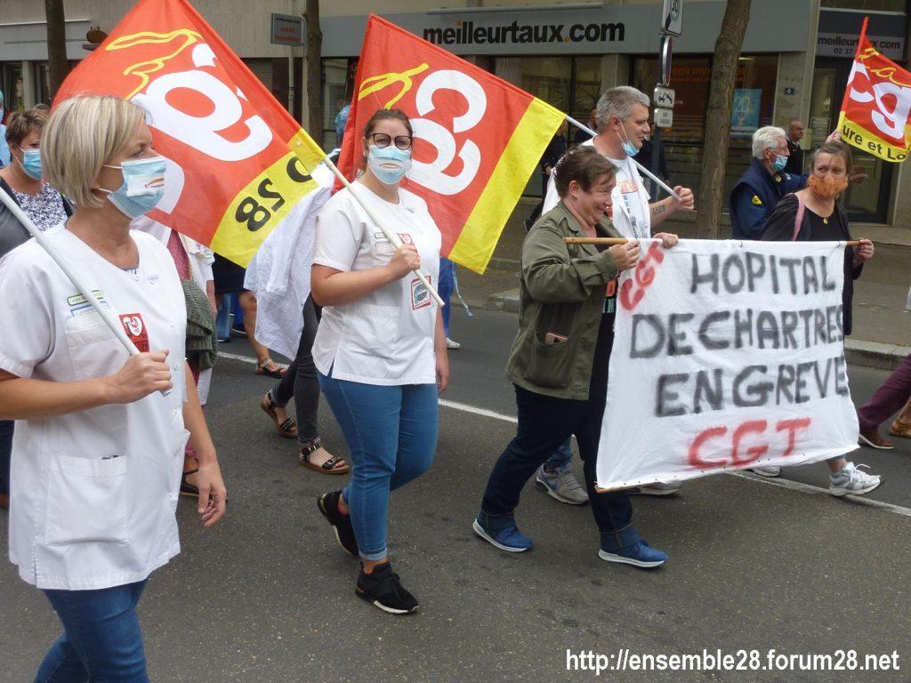 Chartres 30-06-2020 Manifestation Soignants Santé 03