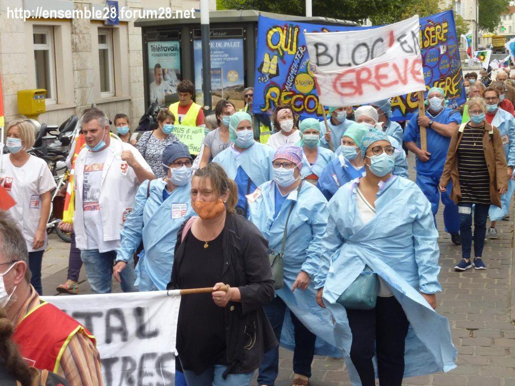 Chartres 30-06-2020 Manifestation Soignants Santé 05