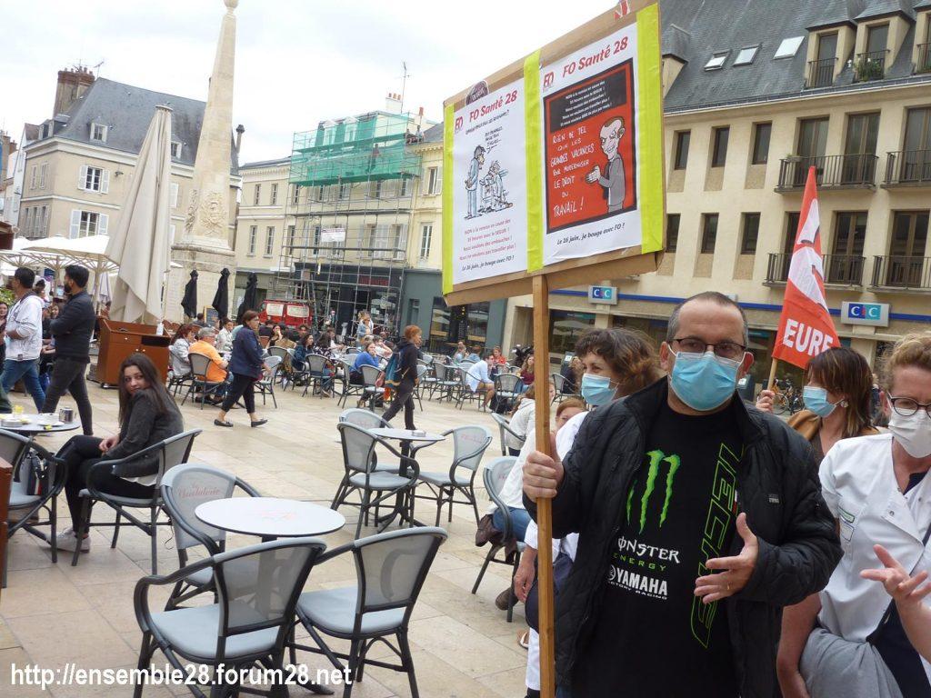 Chartres 30-06-2020 Manifestation Soignants Santé 07