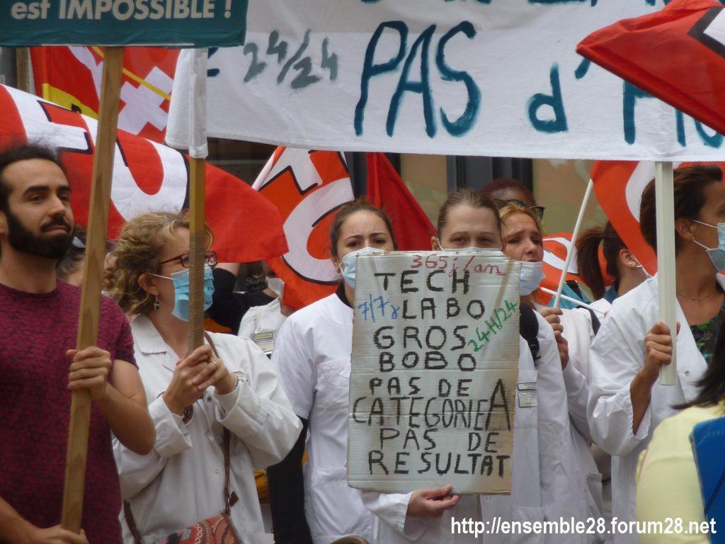 Chartres 30-06-2020 Manifestation Soignants Santé 08