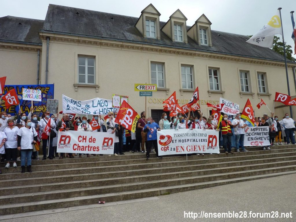 Chartres 30-06-2020 Manifestation Soignants Santé 11