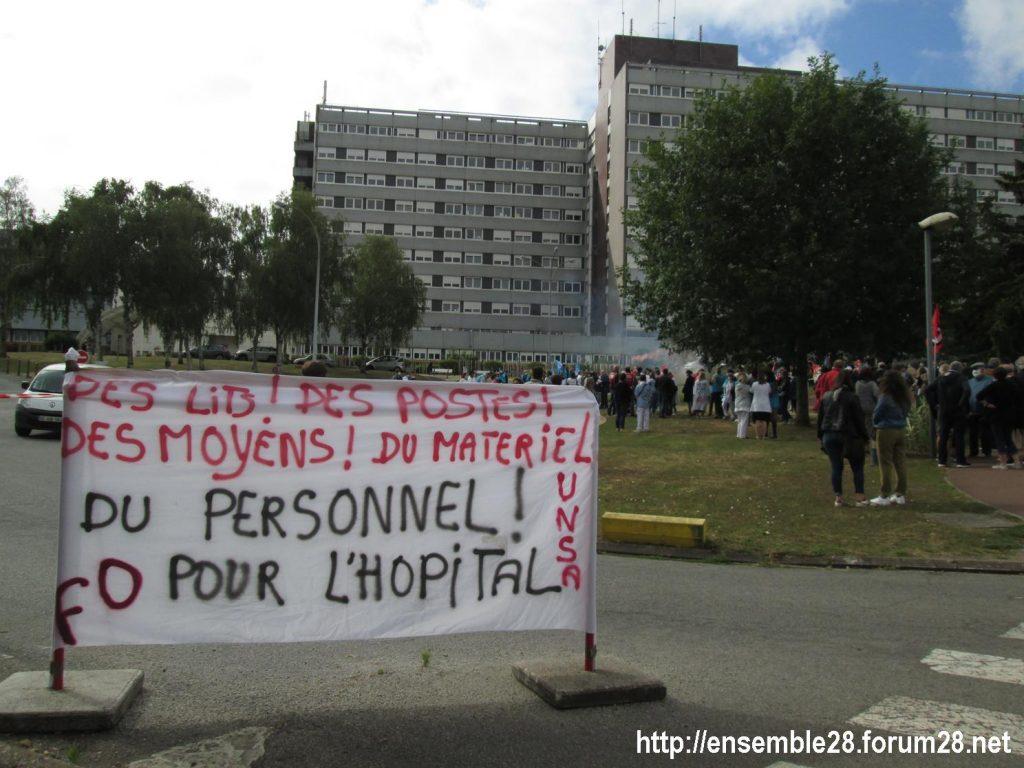 Dreux 16-06-2020 Manifestation Soignants Santé 01