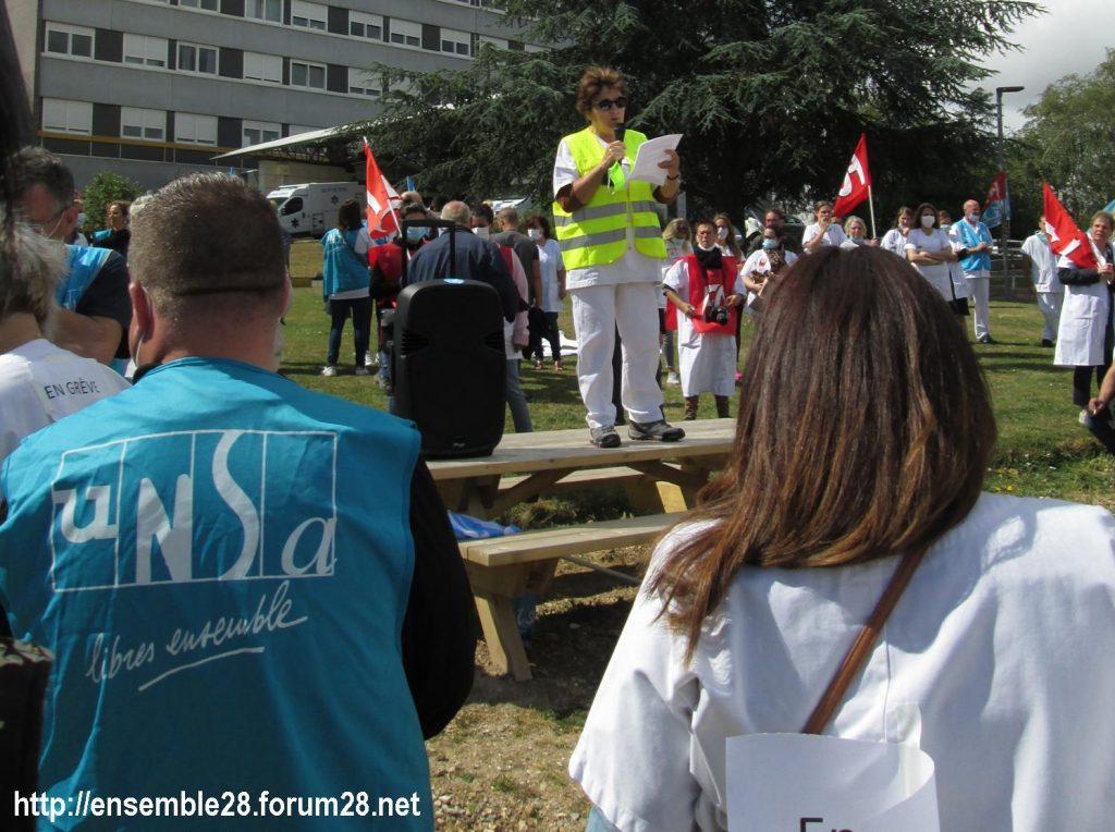 Dreux 16-06-2020 Manifestation Soignants Santé 07