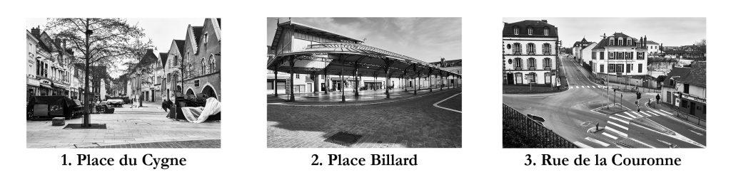 Chartres confinée Places Cygne Billard Rue Couronne