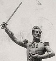 Statue du général Saint-Pol par Jean-Baptiste Debray père,1857, détail [Musée d'Orsay, Fonds Debuisson]