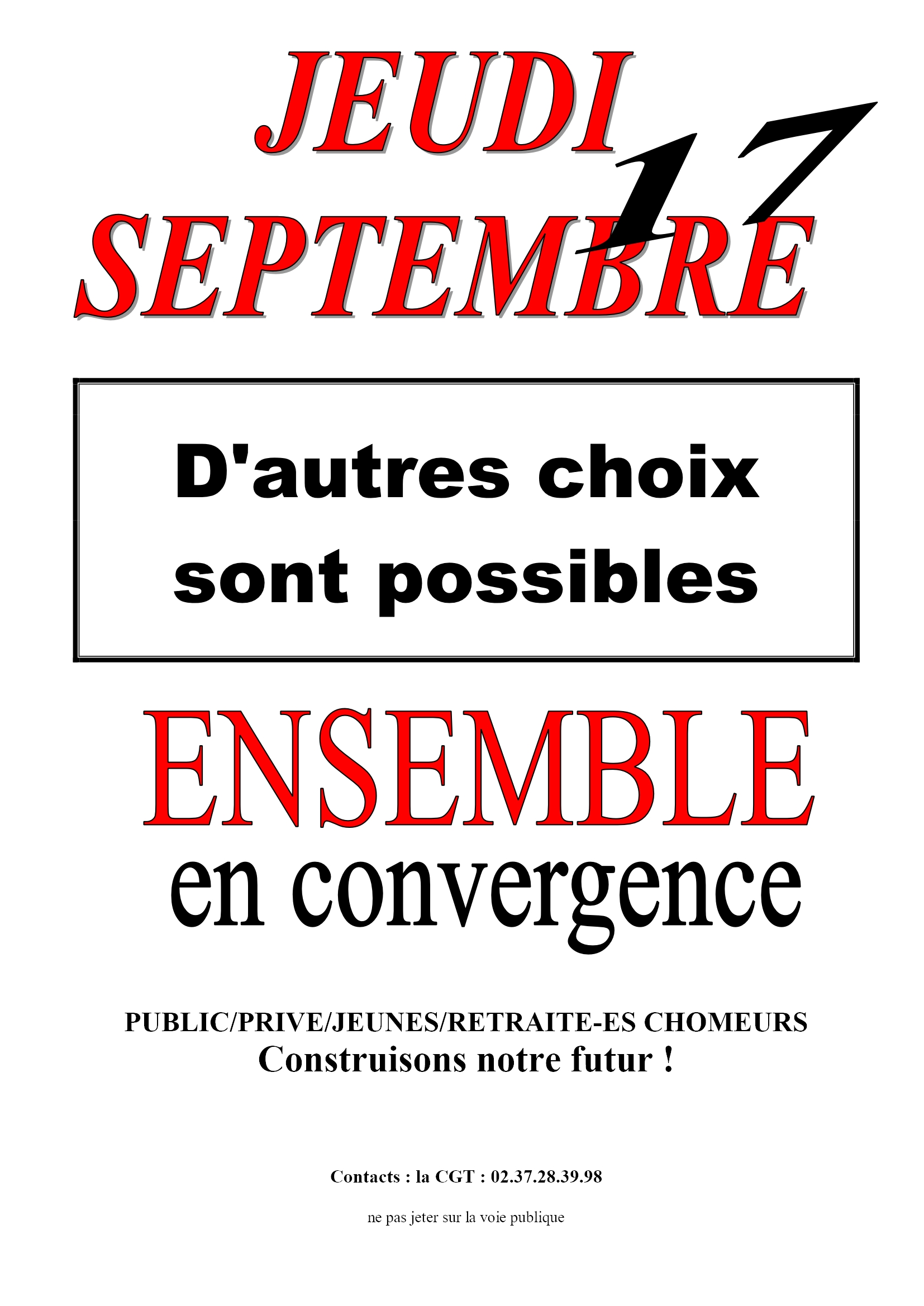 1er Tract 17 Septembre CGT 28 2x2