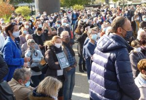 18-10-2020 Chartres Rassemblement Hommage Samuel Paty 11