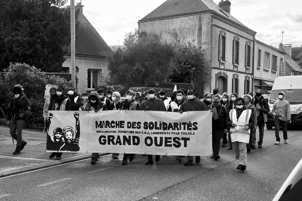 Marche des Sans-Papiers La Taye - Chartres 2020-10-13 [Photo Dominique Joly] 05