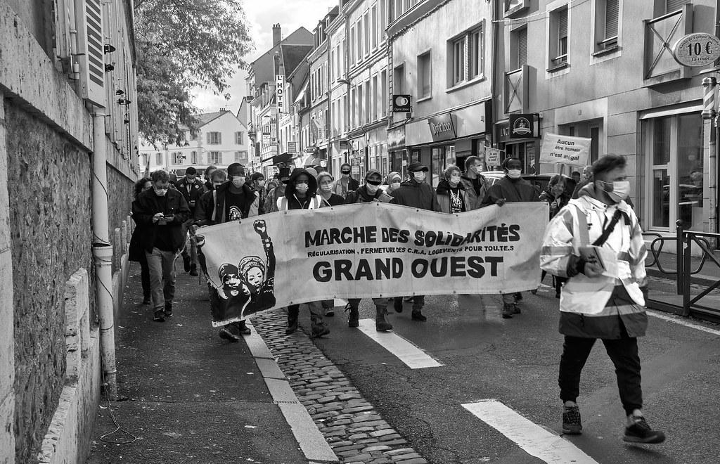 Marche des Sans-Papiers La Taye - Chartres 2020-10-13 [Photo Dominique Joly] 07