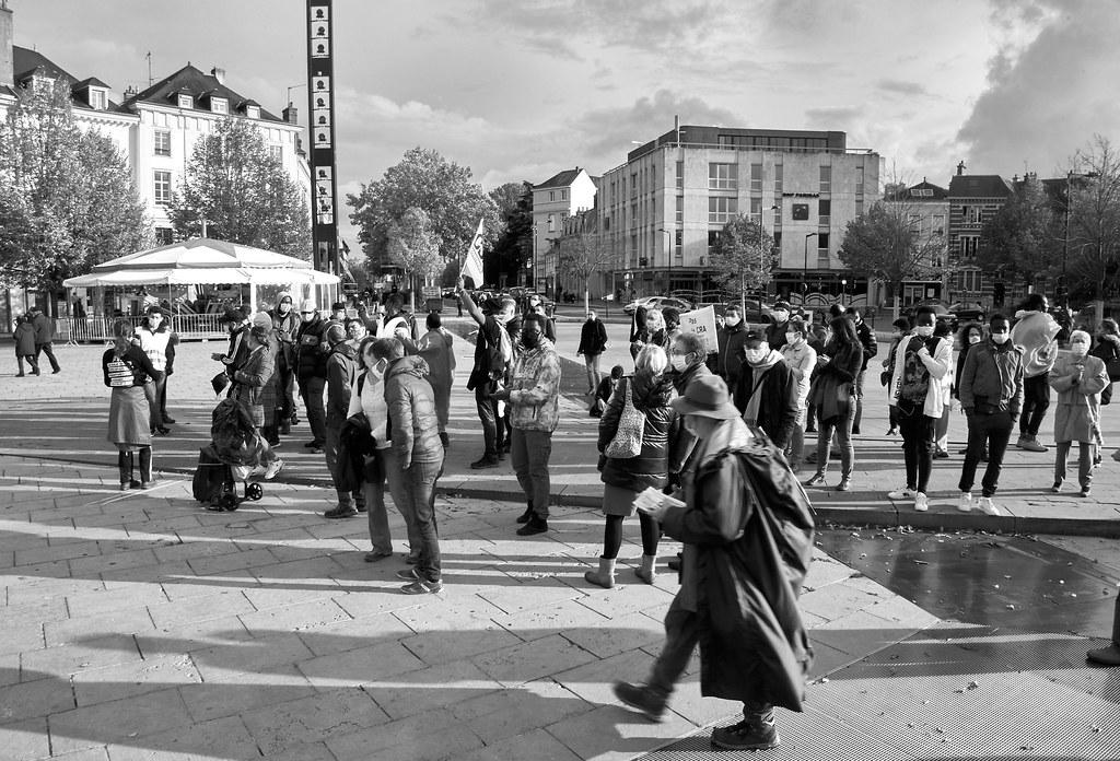 Marche des Sans-Papiers La Taye - Chartres 2020-10-13 [Photo Dominique Joly] 10