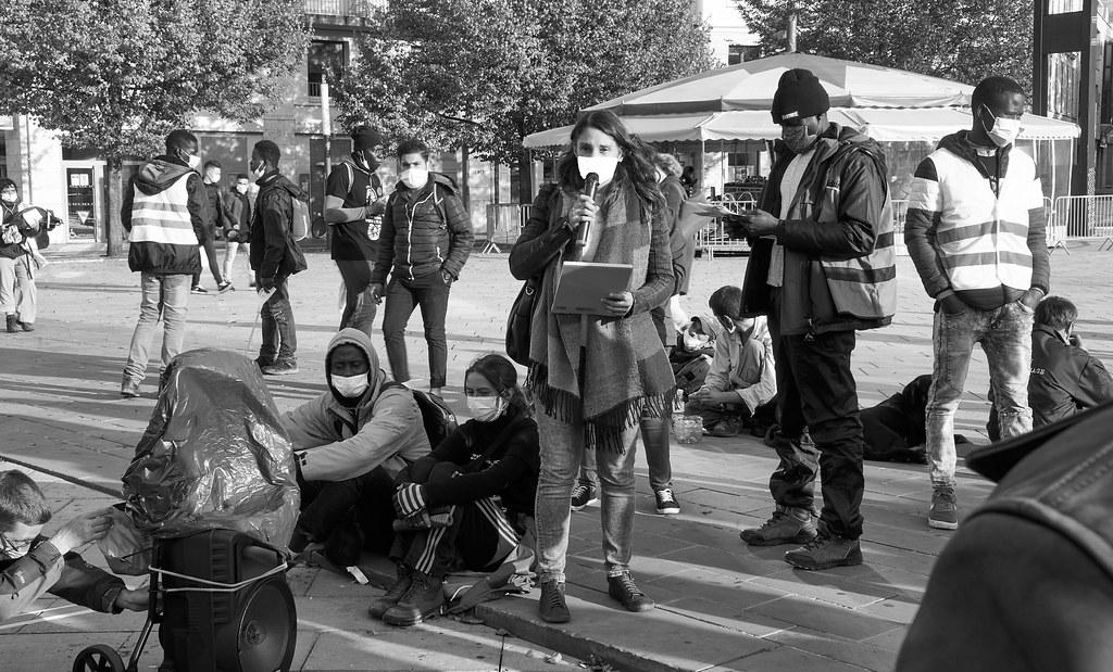 Marche des Sans-Papiers La Taye - Chartres 2020-10-13 [Photo Dominique Joly] 11