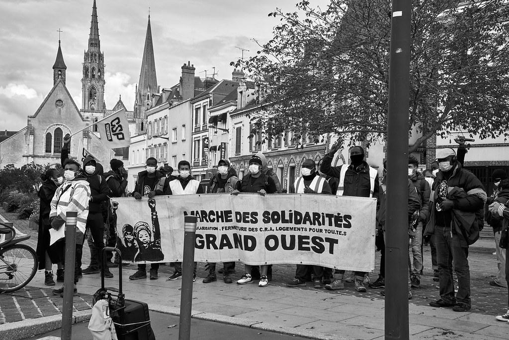 Marche des Sans-Papiers La Taye - Chartres 2020-10-13 [Photo Dominique Joly] 12