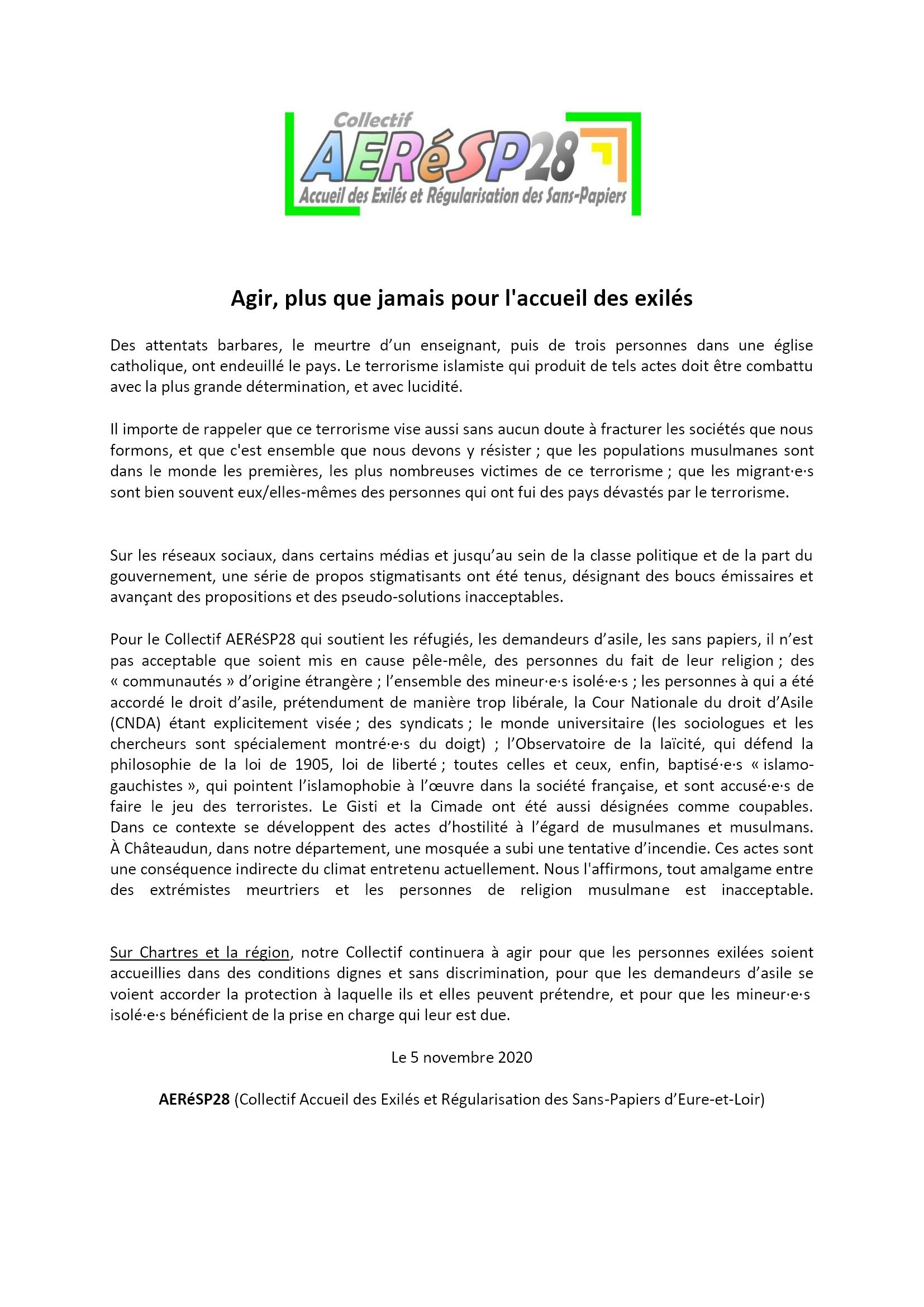 2020 11 05 Communiqué AERéSP28