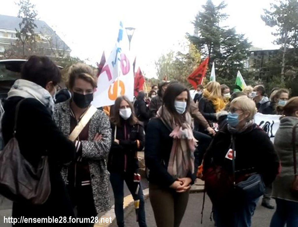 Chartres 10-11-2020 Rassemblement Grève sanitaire 3