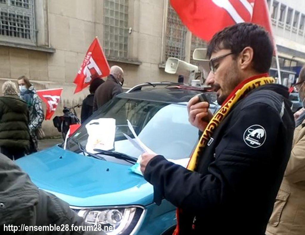 Chartres 10-11-2020 Rassemblement Grève sanitaire 4