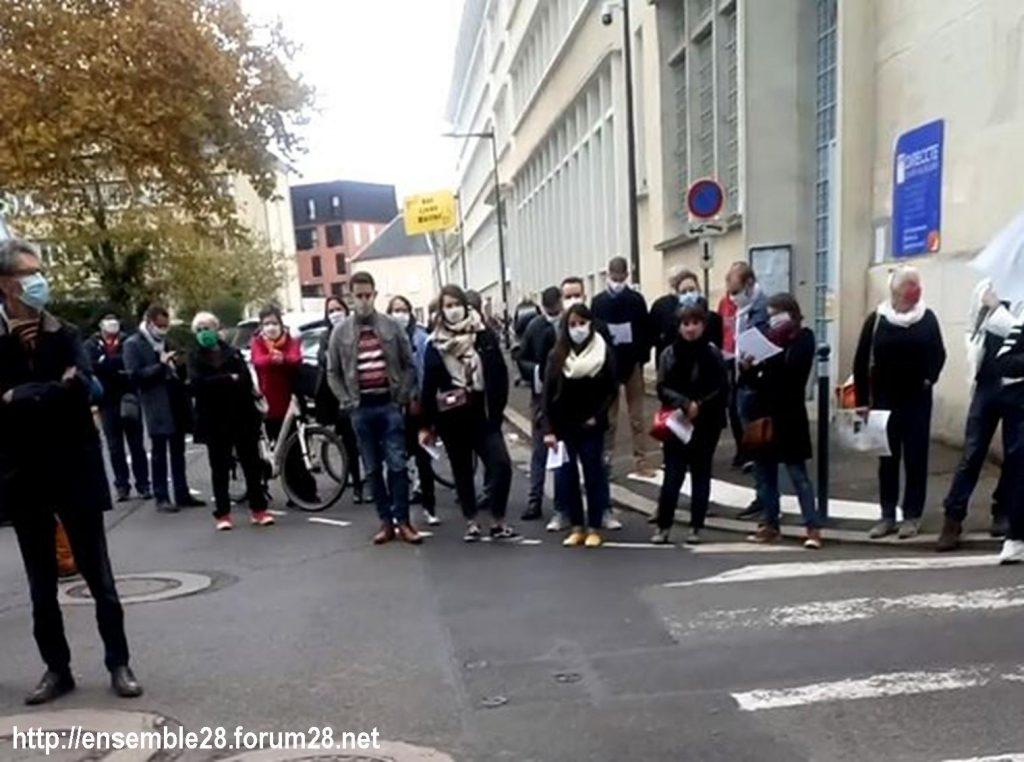 Chartres 10-11-2020 Rassemblement Grève sanitaire 6