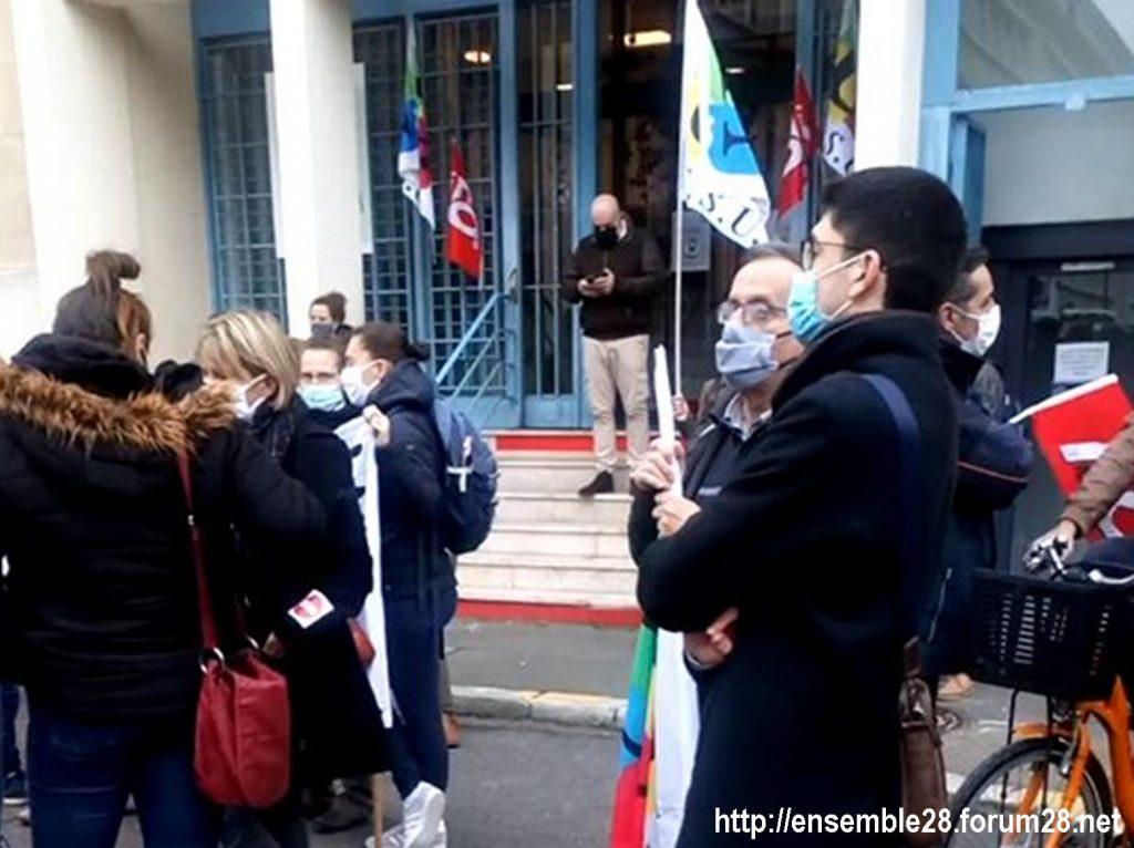 Chartres 10-11-2020 Rassemblement Grève sanitaire 5