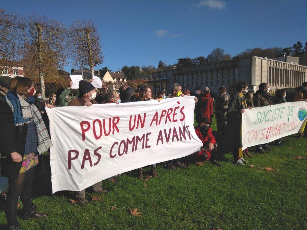Nogent-le-Rotrou 21-11-2020 Cercle des Intermittents Rassemblement 00