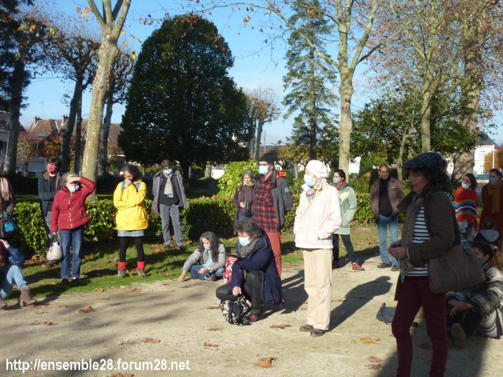 Nogent-le-Rotrou 21-11-2020 Cercle des Intermittents Rassemblement 02