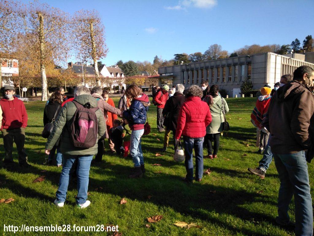Nogent-le-Rotrou 21-11-2020 Cercle des Intermittents Rassemblement 03