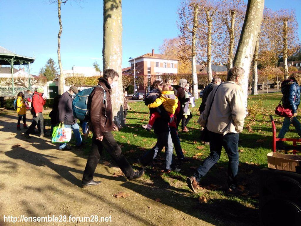 Nogent-le-Rotrou 21-11-2020 Cercle des Intermittents Rassemblement 06