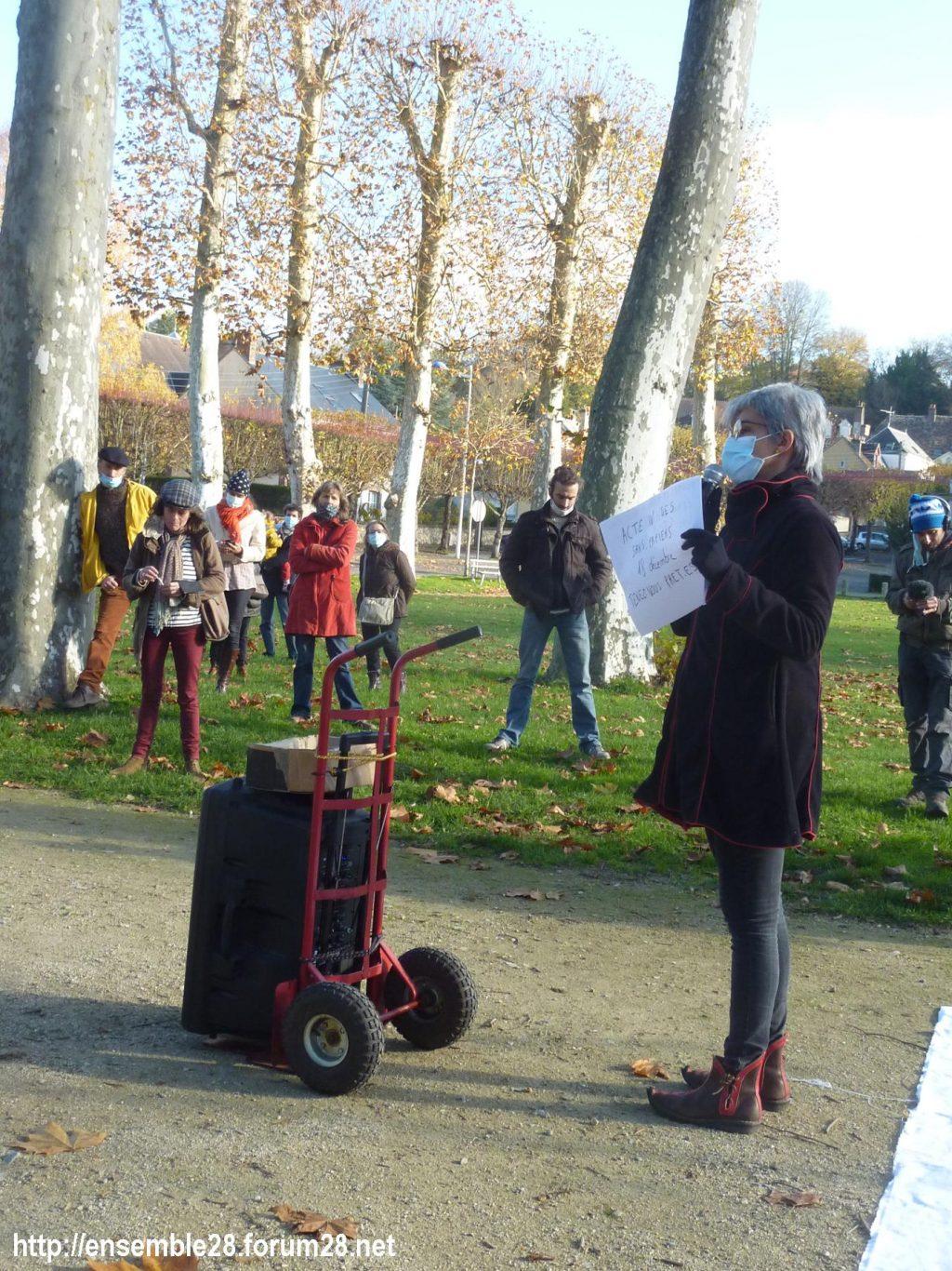 Nogent-le-Rotrou 21-11-2020 Cercle des Intermittents Rassemblement 07