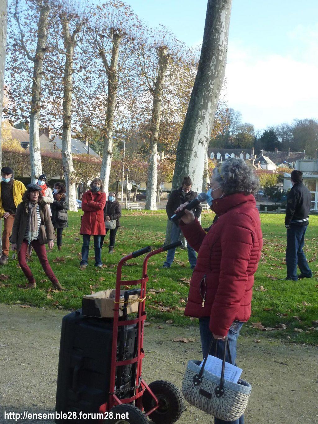 Nogent-le-Rotrou 21-11-2020 Cercle des Intermittents Rassemblement 08