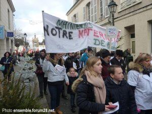 Châteaudun Manif Maternité 16-12-2017 e