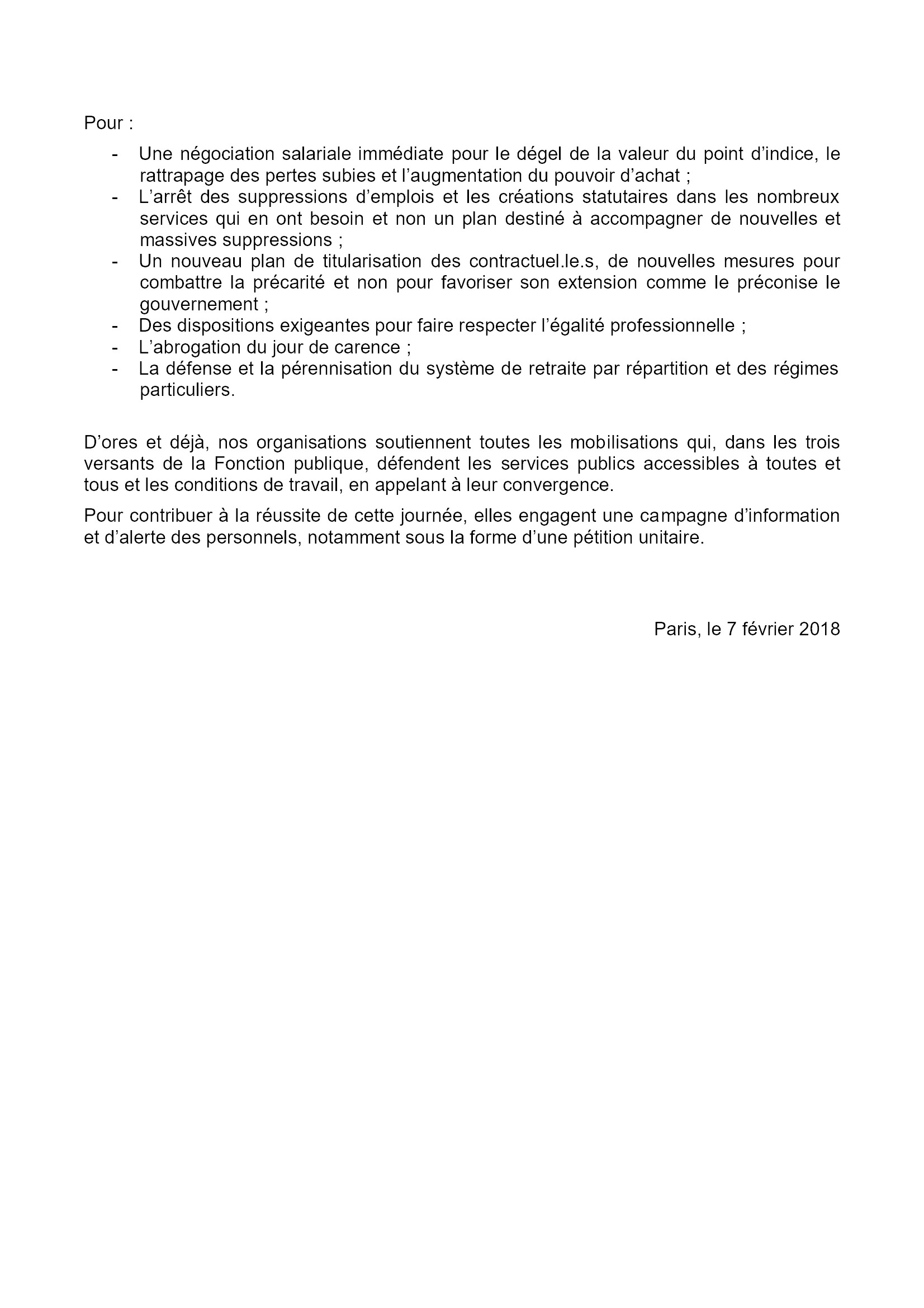 Appel national Intersyndical Grève 22-03-2018 Verso