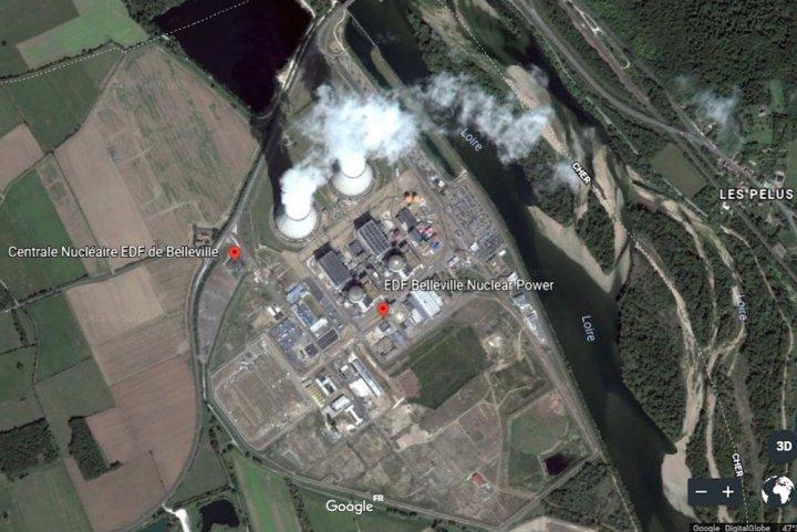 Belleville Image aérienne Google