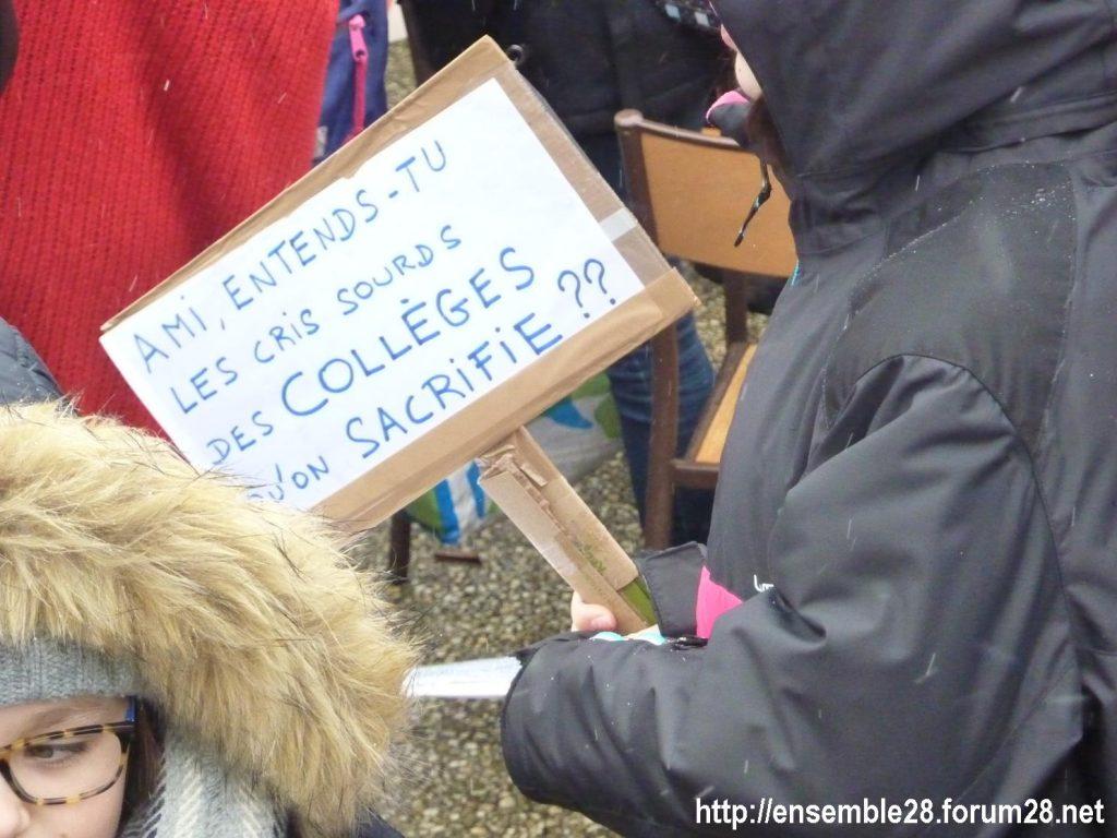 Chartres 13-02-2018 Rassemblement Fermeture Collège Jean-Moulin 08