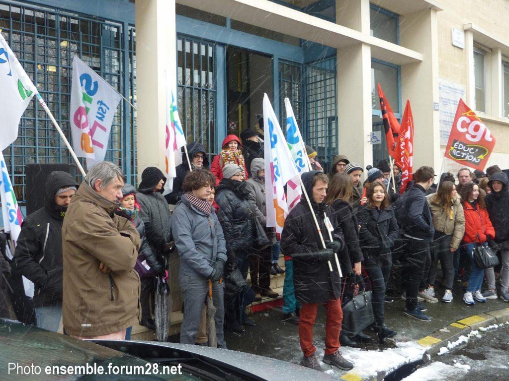 Chartres Rassemblement Grève Lycées Collèges 06-02-2018 SNES CGT SUD SGL 4