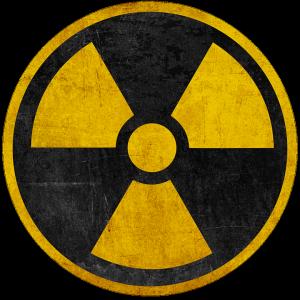 Logo Danger nucléaire Rond négatif