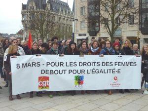 2017-03-08 Rassemblement Féministe CGT FSU Planning-familial Chartres