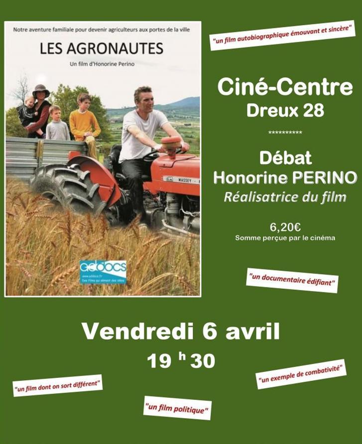 AGRONAUTES Affiche AVERN Ciné-Centre Dreux