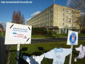 Châteaudun Maternité Manifestation 16-12-2017