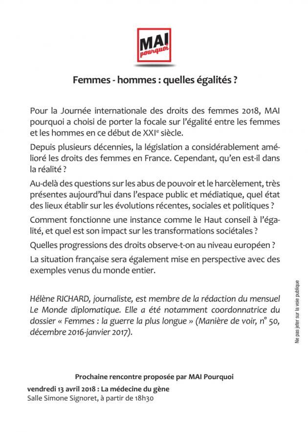 Mai-Pourquoi Femmes-Mommes 17-03-2018 Texte