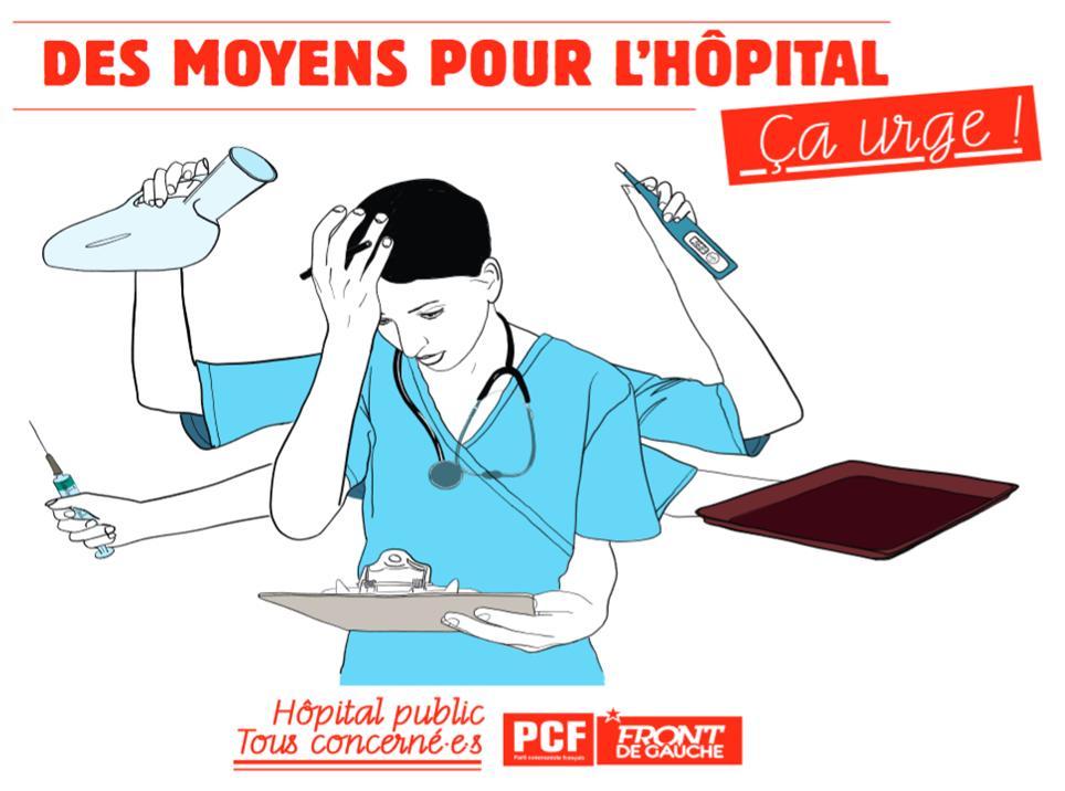 PCF Des Moyens pou l'Hôpital Affiche