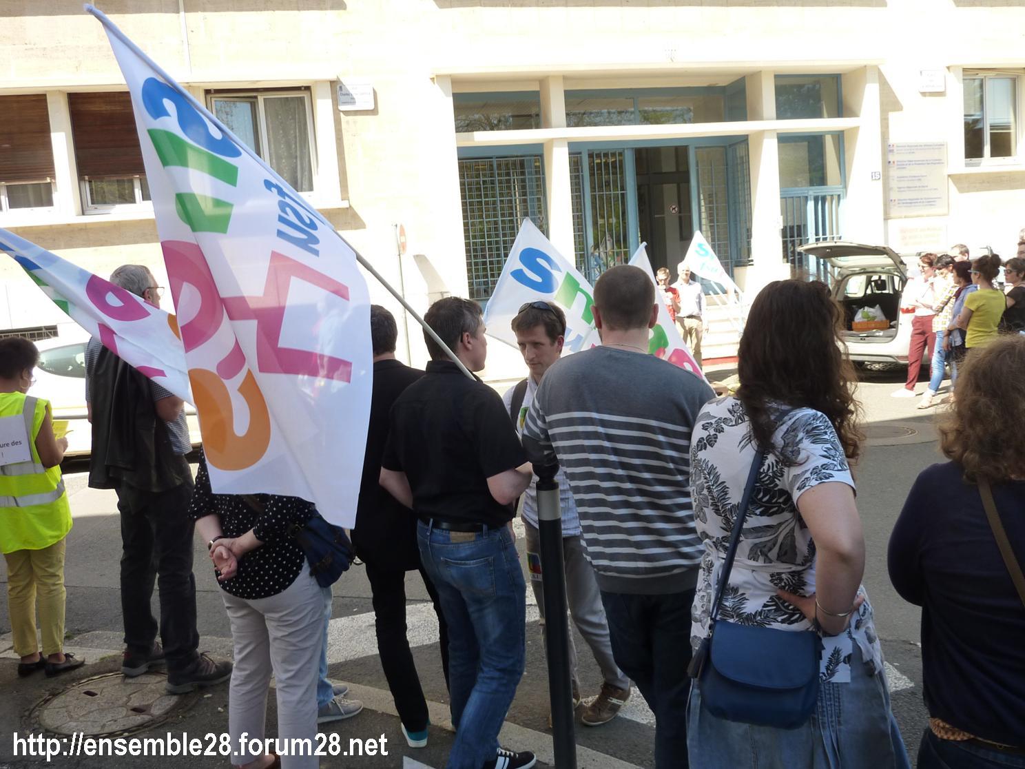 19-04-2018 Chartres Manifestation Interprofessionnelle CGT Solidaires SNES-FSU n°01