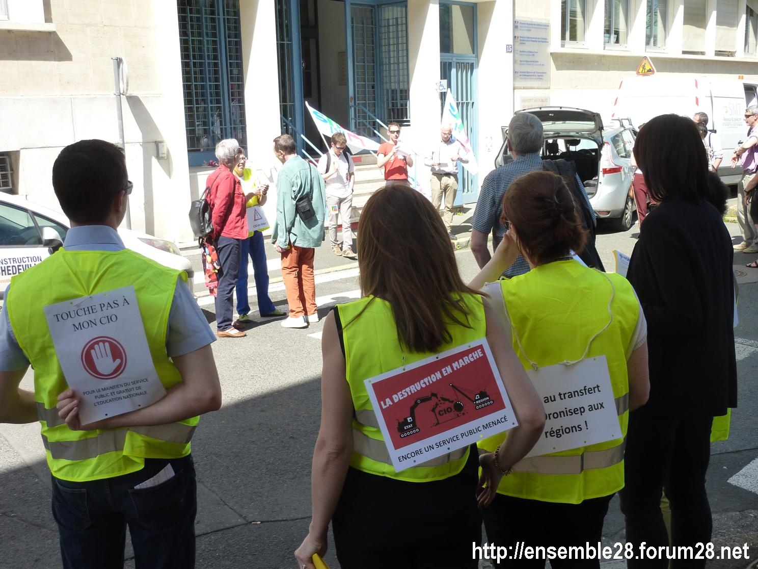 19-04-2018 Chartres Manifestation Interprofessionnelle CGT Solidaires SNES-FSU n°02