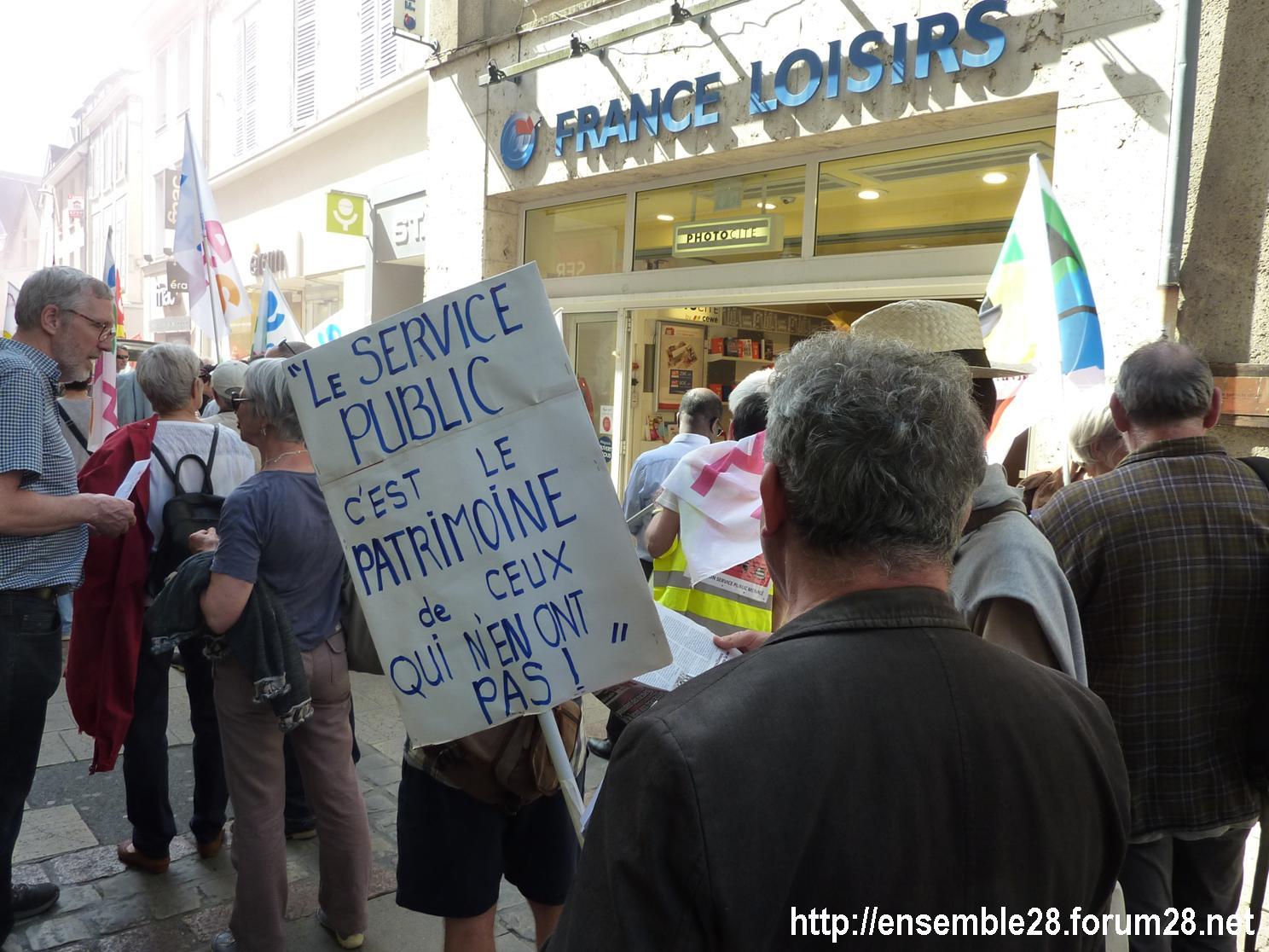 19-04-2018 Chartres Manifestation Interprofessionnelle CGT Solidaires SNES-FSU n°07