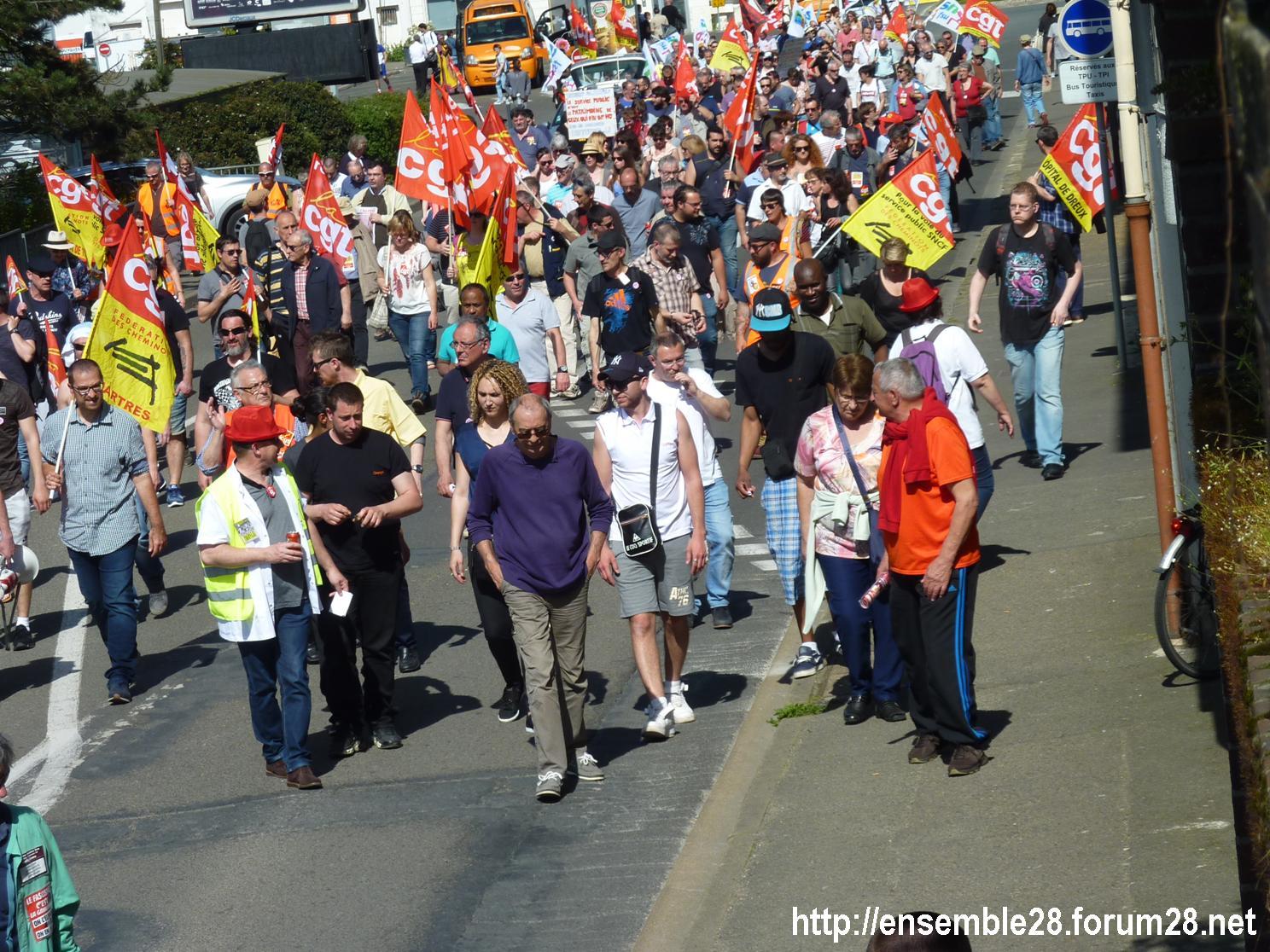 19-04-2018 Chartres Manifestation Interprofessionnelle CGT Solidaires SNES-FSU n°12