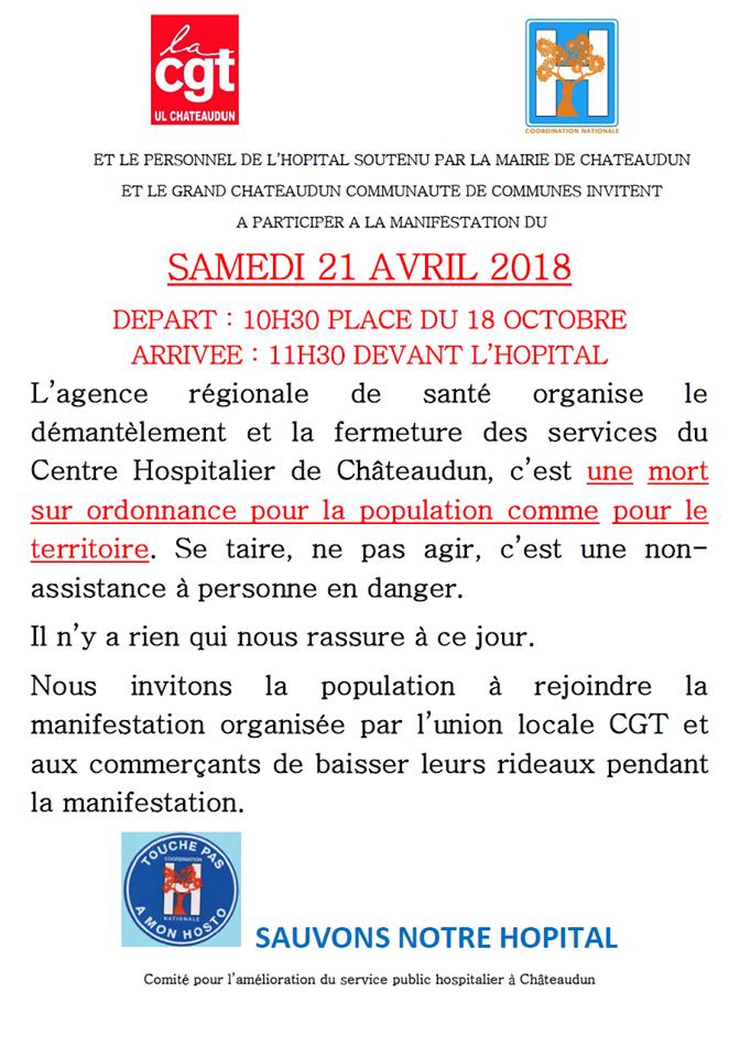 Appel CGT Coordination Manif 21-04-2018