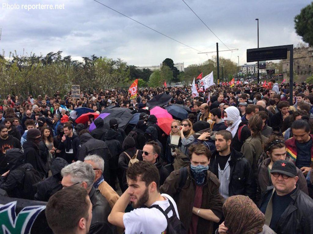 Nantes, 14-04-2018 La manif syndicale