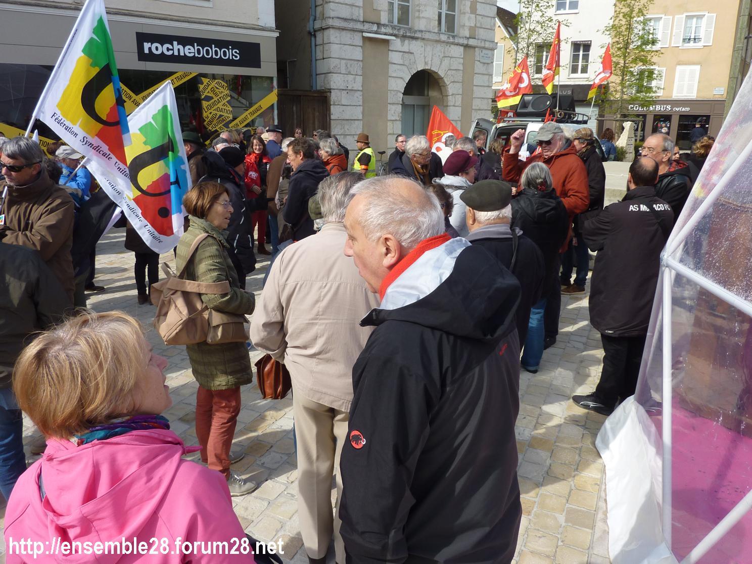 Chartres 1er-Mai-2018 Manifestation CGT FSU 01