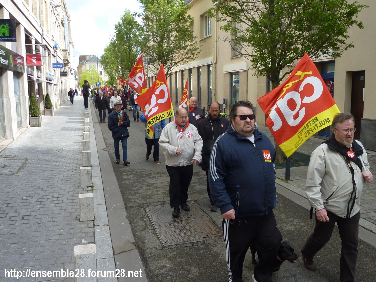 Chartres 1er-Mai-2018 Manifestation CGT FSU 02